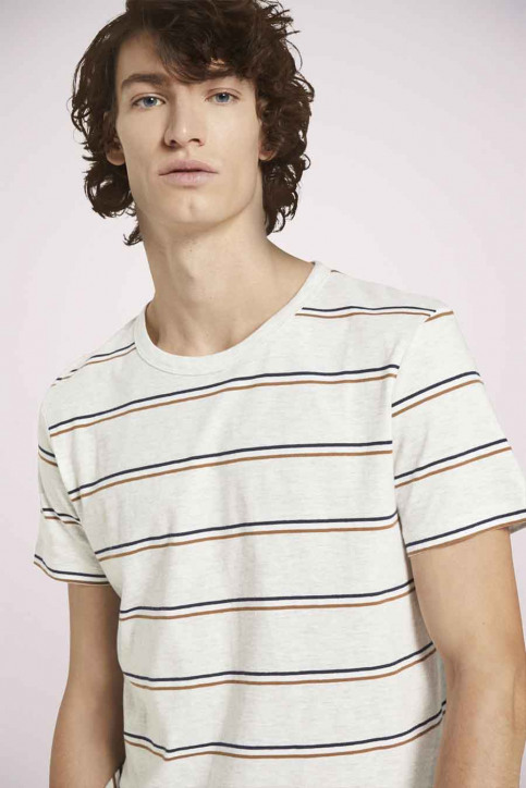Tom Tailor T-shirts (korte mouwen) multicolor 1023831_25898 WHITE TRI img5