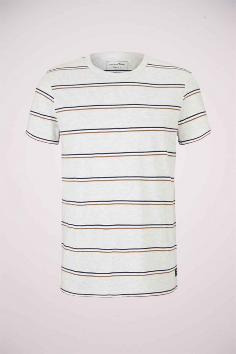 Tom Tailor T-shirts (korte mouwen) multicolor 1023831_25898 WHITE TRI img6