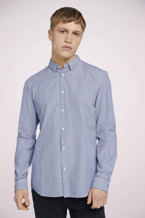 Tom Tailor Hemden (lange mouwen) blauw 1023837_25842 NAVY WHIT img1