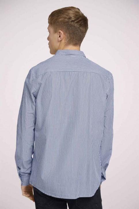 Tom Tailor Hemden (lange mouwen) blauw 1023837_25842 NAVY WHIT img4