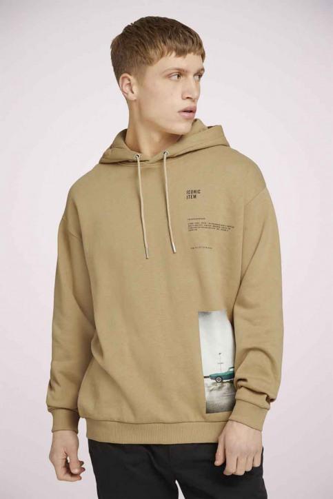 Tom Tailor Sweaters met kap beige 1023843_12435 LARK BEIG img1