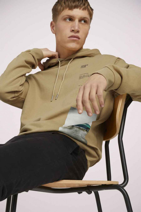 Tom Tailor Sweaters met kap beige 1023843_12435 LARK BEIG img3