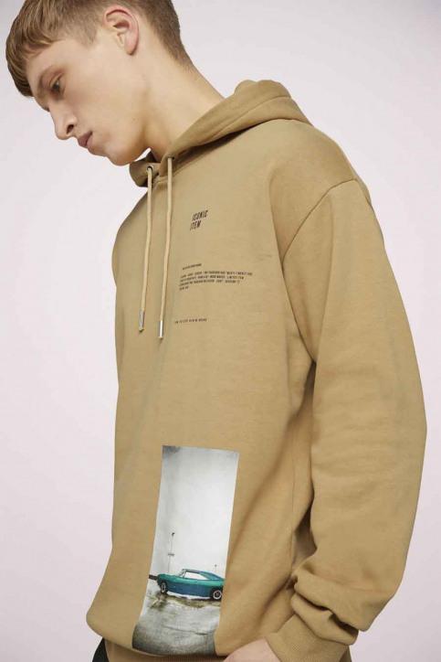 Tom Tailor Sweaters met kap beige 1023843_12435 LARK BEIG img5