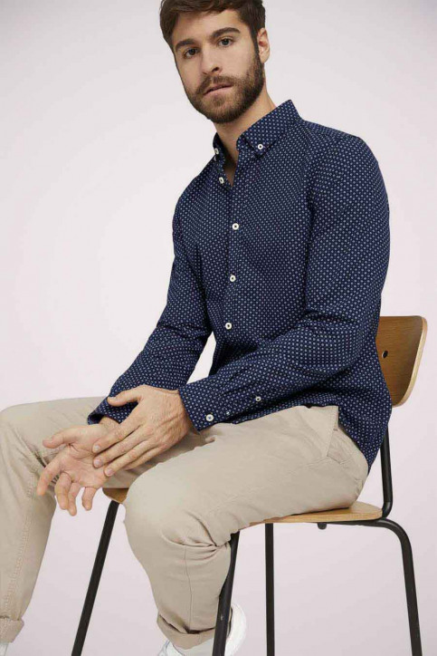 Tom Tailor Hemden (lange mouwen) blauw 1023878_25877 NAVY DIG img1
