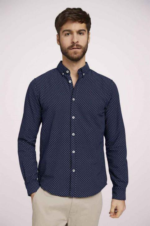 Tom Tailor Hemden (lange mouwen) blauw 1023878_25877 NAVY DIG img3