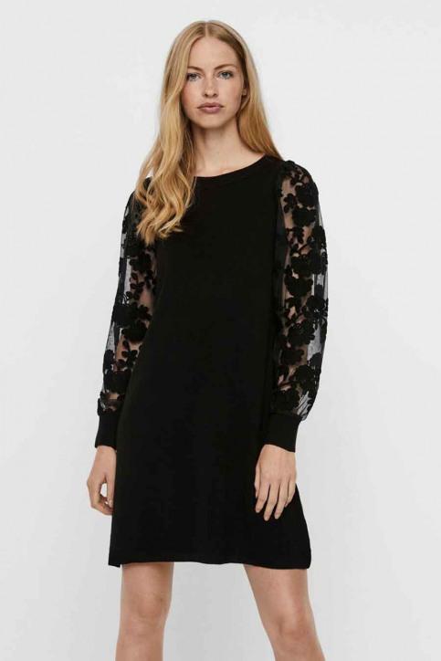 VERO MODA Robes longues noir 10246682_BLACK img1