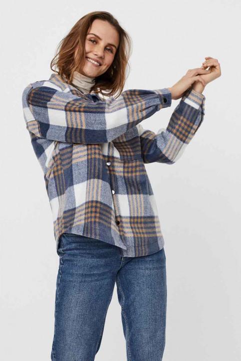 VERO MODA® Vestes courtes écru 10252118_SNOW WH CHECK img2