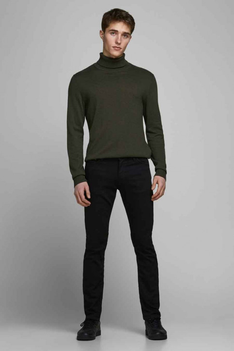 JACK & JONES JEANS INTELLIGENC Jeans slim 12113450_BLACK DENIM img1