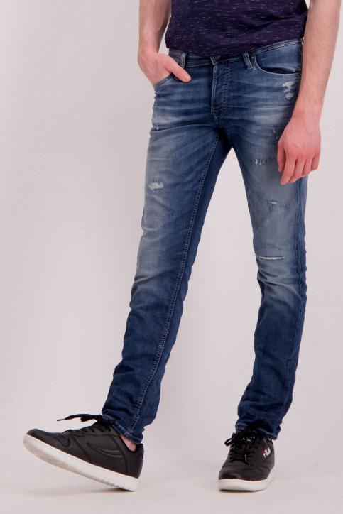 JACK & JONES JEANS INTELLIGENC Jeans slim denim 12126063_BLUE DENIM img1
