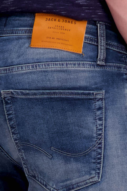 JACK & JONES JEANS INTELLIGENC Jeans slim denim 12126063_BLUE DENIM img5