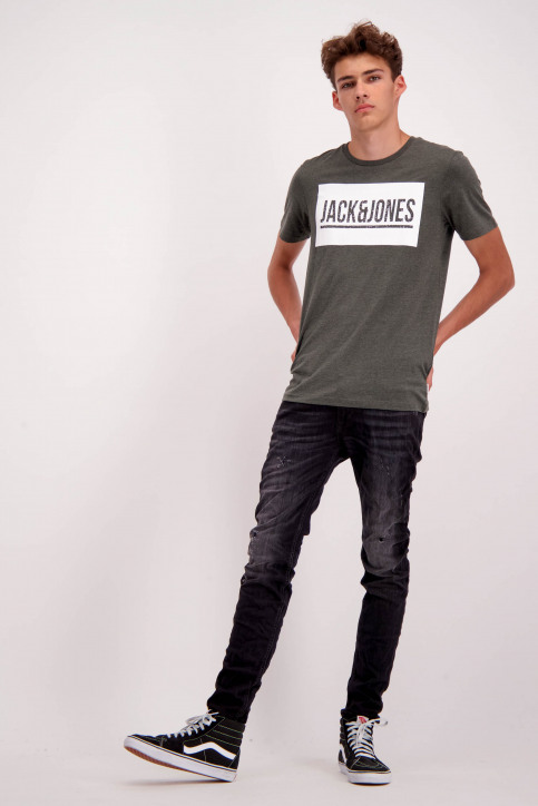 JACK & JONES JEANS INTELLIGENC Jeans skinny 12126085_BLACK DENIM img2