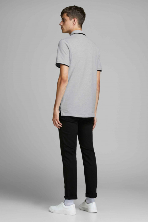 PREMIUM BY JACK & JONES Polos gris 12136668_LIGHT GREY MELA img3