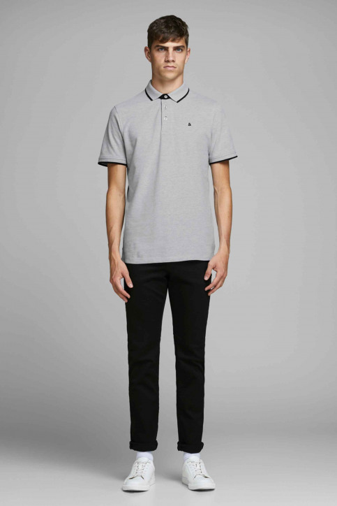 PREMIUM BY JACK & JONES Polos gris 12136668_LIGHT GREY MELA img6