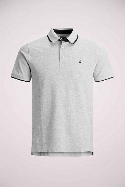PREMIUM BY JACK & JONES Polos gris 12136668_LIGHT GREY MELA img8