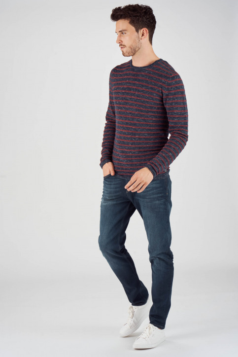 PREMIUM BLUE BY JACK & JONES Pulls col O bleu 12137336_TOTAL ECLIPSE img2