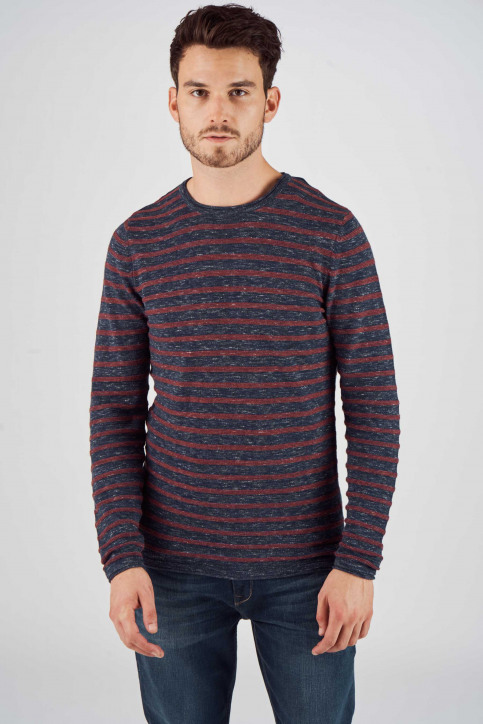 PREMIUM BLUE BY JACK & JONES Pulls col O bleu 12137336_TOTAL ECLIPSE img4