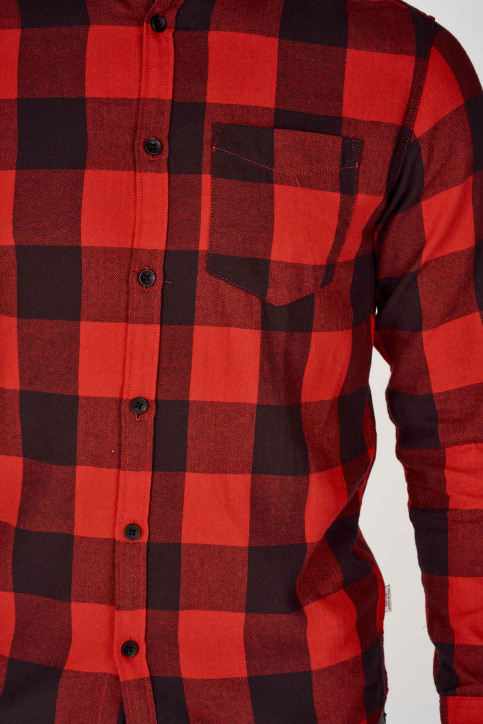 ORIGINALS BY JACK & JONES Chemises (manches longues) rouge 12138283_FIERY RED img3