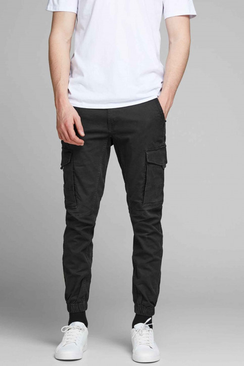 JACK & JONES JEANS INTELLIGENC Broeken zwart 12139912_BLACK img4