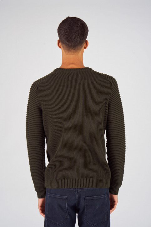 CORE BY JACK & JONES Truien met ronde hals groen 12140246_ROSIN img3