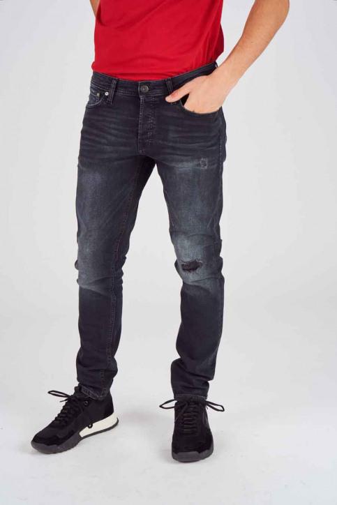 JACK & JONES JEANS INTELLIGENC Jeans slim 12140467_BLACK DENIM img1