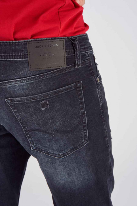 JACK & JONES JEANS INTELLIGENC Jeans slim 12140467_BLACK DENIM img5