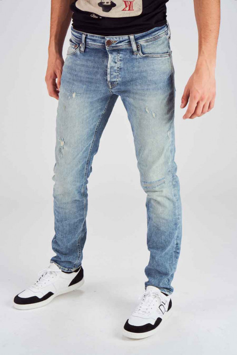 JACK & JONES JEANS INTELLIGENC Jeans slim denim 12140583_BLUE DENIM img1