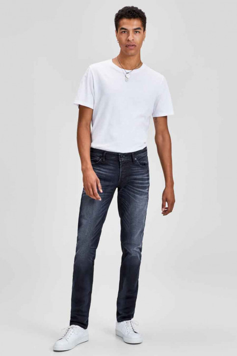 JACK & JONES JEANS INTELLIGENCE Jeans slim denim 12140584_BLUE DENIM img2