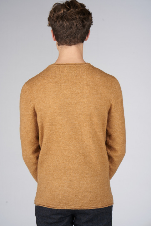 ORIGINALS BY JACK & JONES Pulls col O brun 12140594_BROWN SUGAR KNI img3