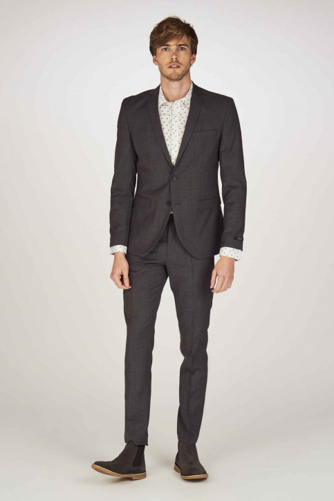 PREMIUM BY JACK & JONES Pantalons de costume gris 12141112_DARK GREY img2