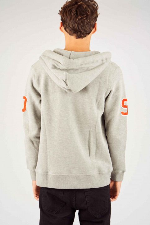 ORIGINALS BY JACK & JONES Sweats avec capuchon gris 12141244_LIGHT GREY MELA img3