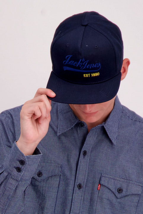 ACCESSORIES BY JACK & JONES Casquettes bleu 12141407_TOTAL ECLIPSE img3