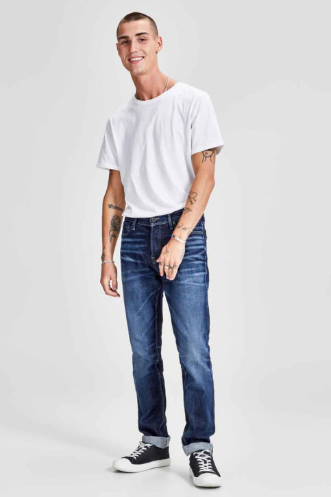 JACK & JONES JEANS INTELLIGENC Jeans slim denim 12141767_BLUE DENIM img2