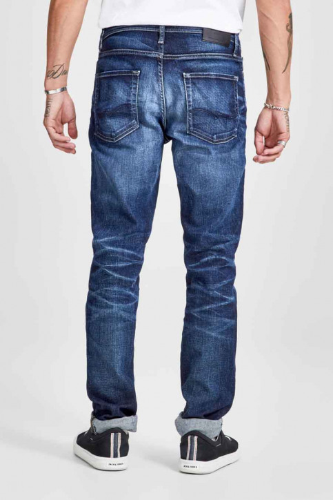 JACK & JONES JEANS INTELLIGENC Jeans slim denim 12141767_BLUE DENIM img3
