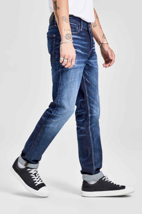 JACK & JONES JEANS INTELLIGENC Jeans slim denim 12141767_BLUE DENIM img6
