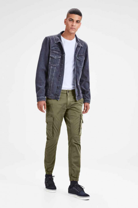 JACK & JONES JEANS INTELLIGENCE Broeken OLIVE 12141844_OLIVE NIGHT img2