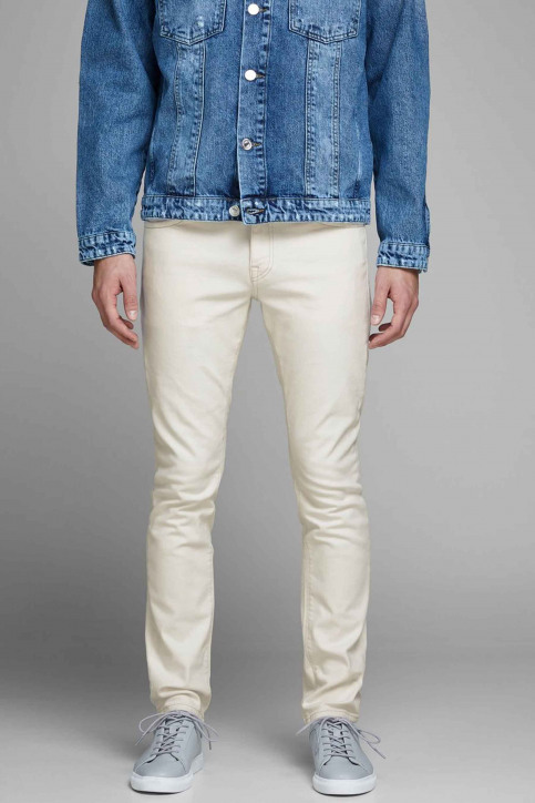 JACK & JONES JEANS INTELLIGENC Jeans slim 12142624_WHITE DENIM img1