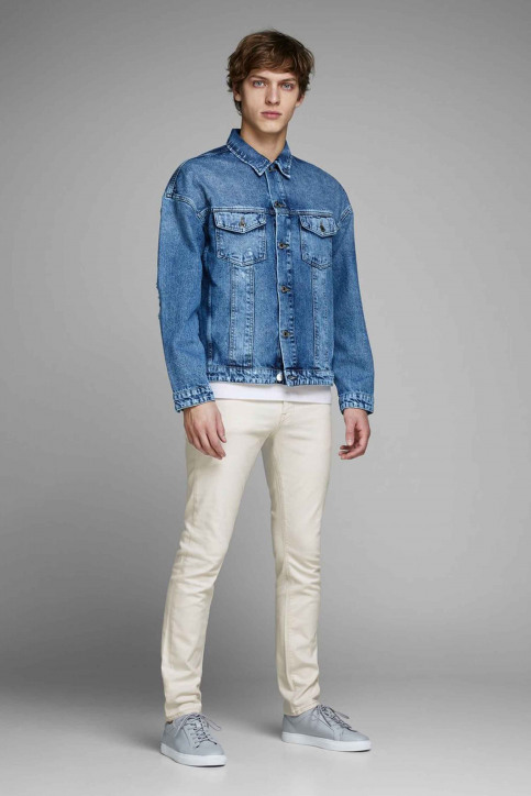 JACK & JONES JEANS INTELLIGENC Jeans slim 12142624_WHITE DENIM img2
