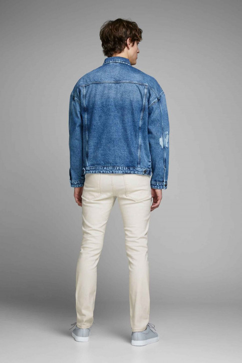 JACK & JONES JEANS INTELLIGENC Jeans slim 12142624_WHITE DENIM img3