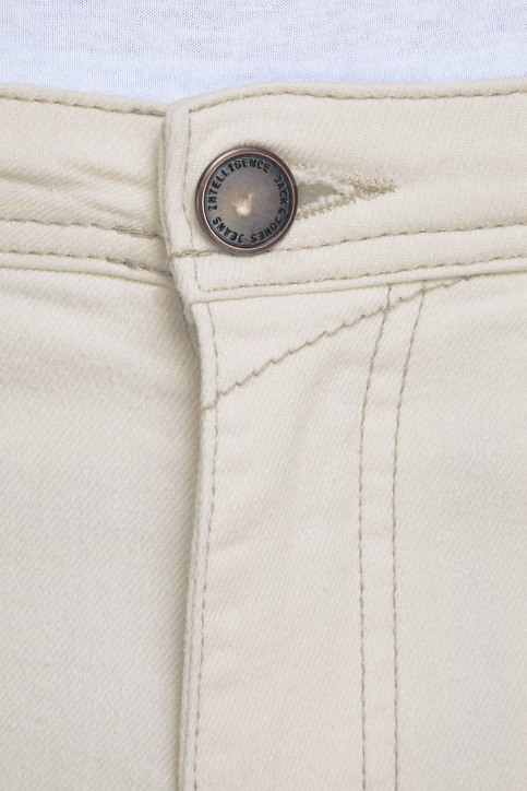 JACK & JONES JEANS INTELLIGENC Jeans slim 12142624_WHITE DENIM img4