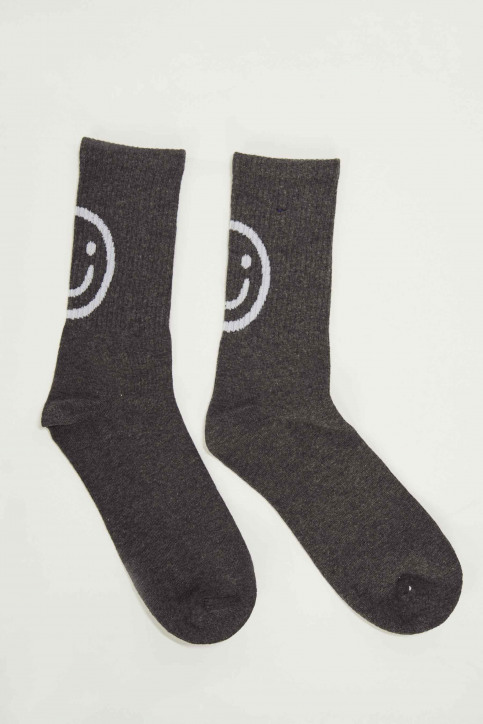 ACCESSORIES BY JACK & JONES Chaussettes 12146972_DARK GREY MELAN img1