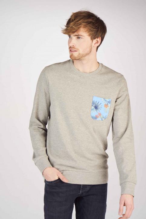ORIGINALS BY JACK & JONES Sweaters met ronde hals grijs 12147398_LIGHT GREY MELA img1