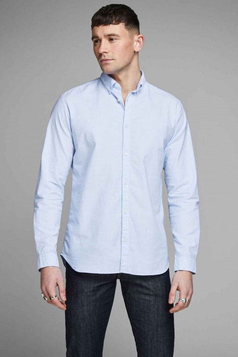PREMIUM BY JACK & JONES Chemises (manches longues) bleu 12148125_CASHMERE  BLUE img1