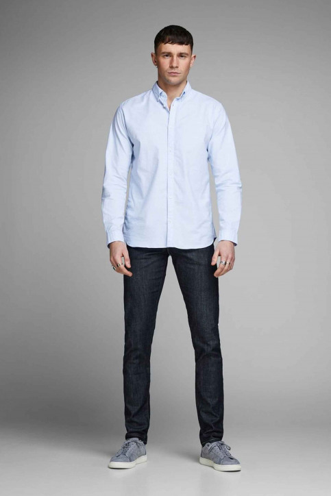 PREMIUM BY JACK & JONES Chemises (manches longues) bleu 12148125_CASHMERE  BLUE img2
