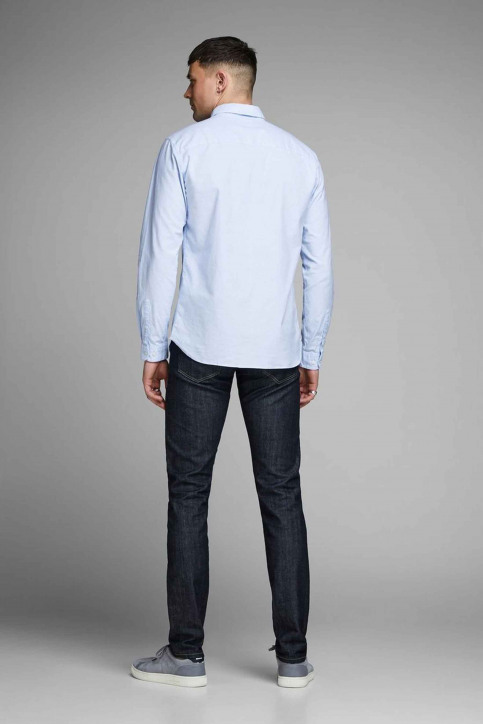 PREMIUM BY JACK & JONES Chemises (manches longues) bleu 12148125_CASHMERE  BLUE img3