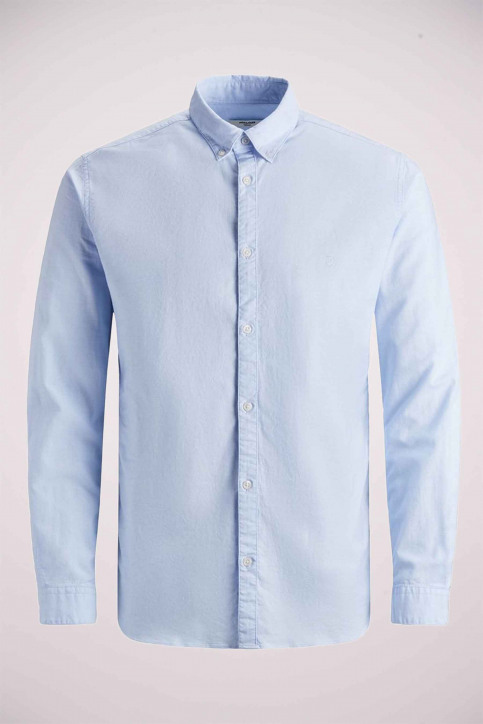 PREMIUM BY JACK & JONES Chemises (manches longues) bleu 12148125_CASHMERE  BLUE img4