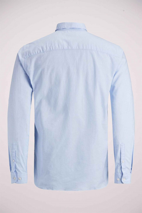 PREMIUM BY JACK & JONES Chemises (manches longues) bleu 12148125_CASHMERE  BLUE img5