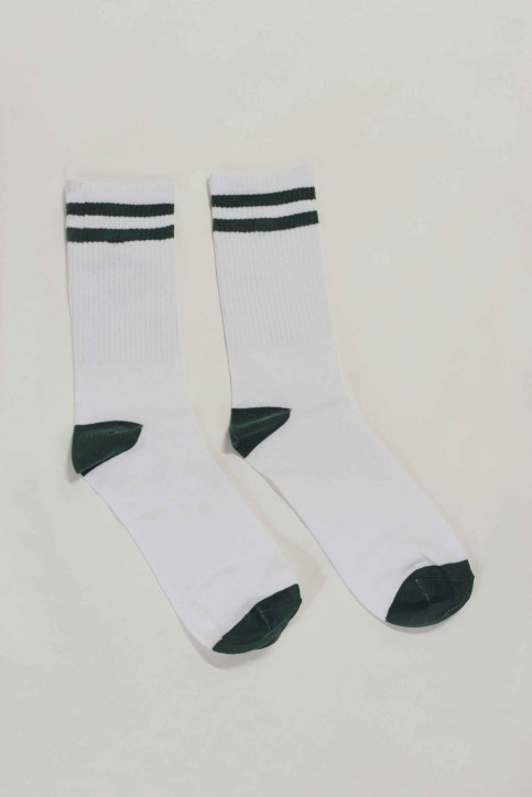 ACCESSORIES BY JACK & JONES Chaussettes blanc 12148550_EVERGREEN img1