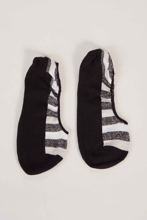 ACCESSORIES BY JACK & JONES Chaussettes noir 12148567_BLACK STRIPE img1