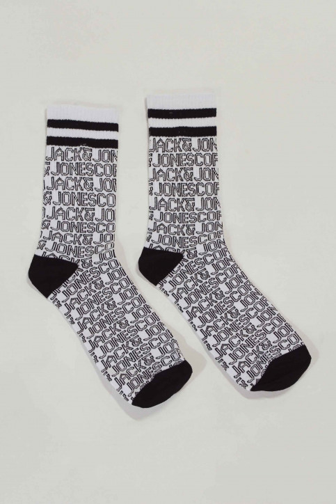 ACCESSORIES BY JACK & JONES Chaussettes blanc 12148577_WHITE ALL OVER img1