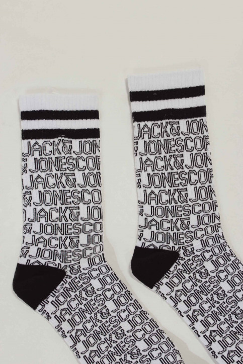 ACCESSORIES BY JACK & JONES Chaussettes blanc 12148577_WHITE ALL OVER img2